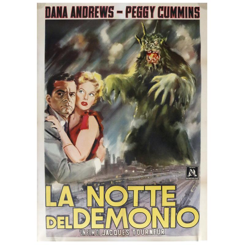 Night of the Demons 1957 Italian Movie Poster