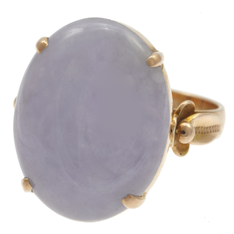 Lavender Jadeite Jade, 14k Ring