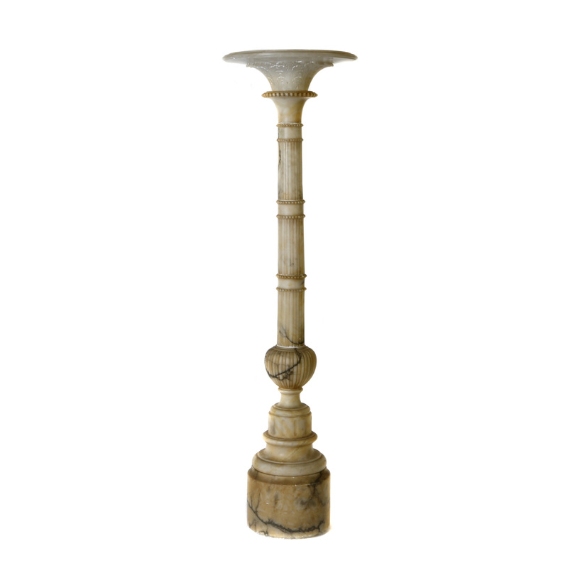 Neoclassical Alabaster Torchiere