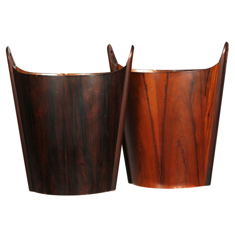 Pair of Rosewood Wastebaskets Einar Barnes