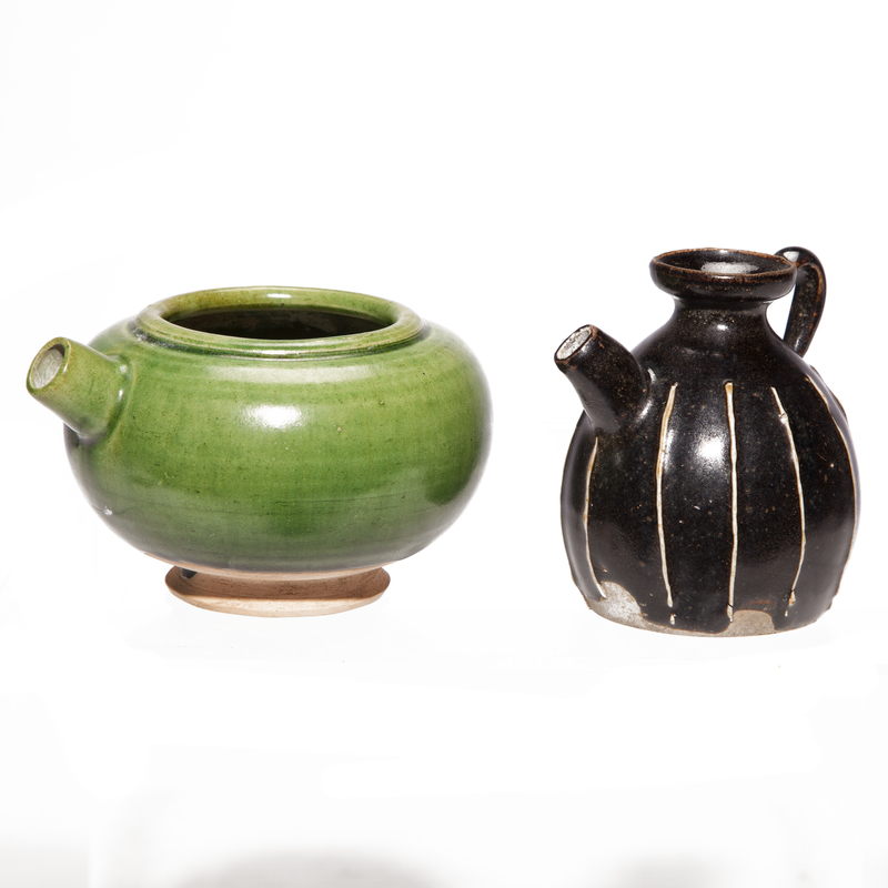 Two Glazed Water Droppers, Song Dynasty