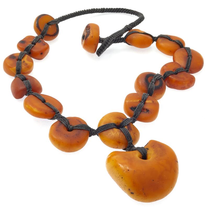 Tibetan Amber Bead Necklace