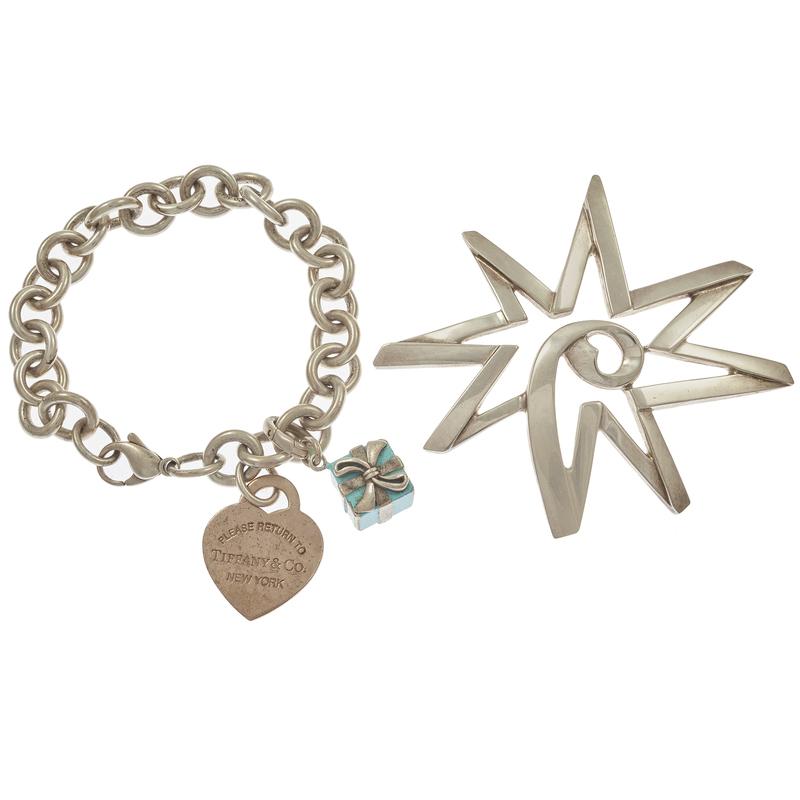 Tiffany & Co. Sterling Silver, Enamel Jewelry Items