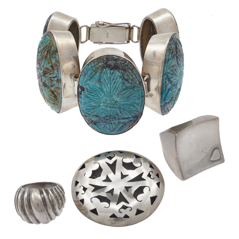 Collection of Turquoise, Sterling Silver Jewelry