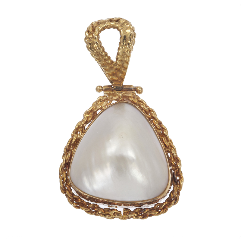 Rajola Mabe Pearl, 14k Yellow Gold Pendant