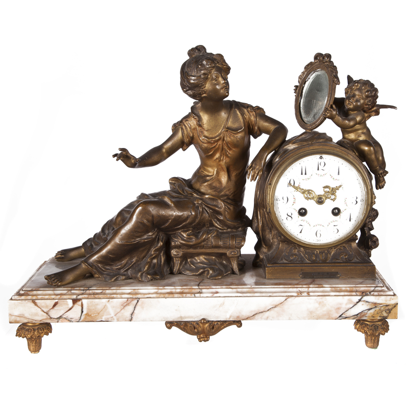 Neoclassical Style Figural Clock