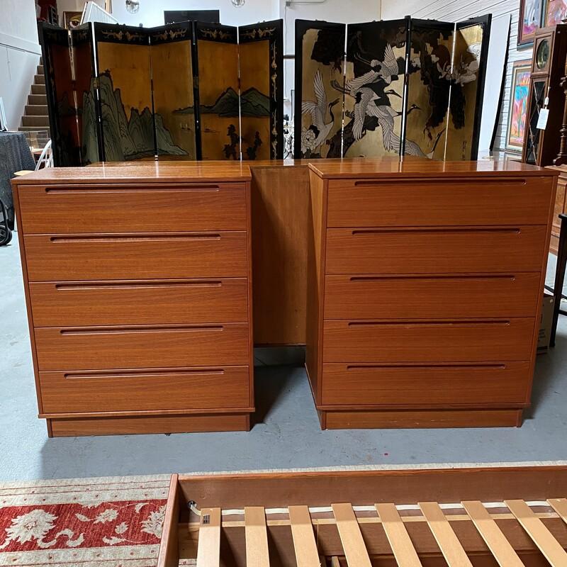 Pair of Highboy Dressers by Torring