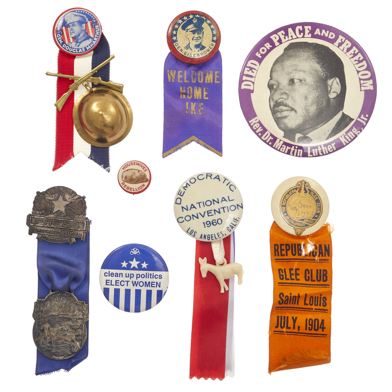 A Collection of American Political Buttons