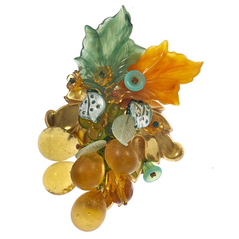Stanley Hagler Grapes Brooch
