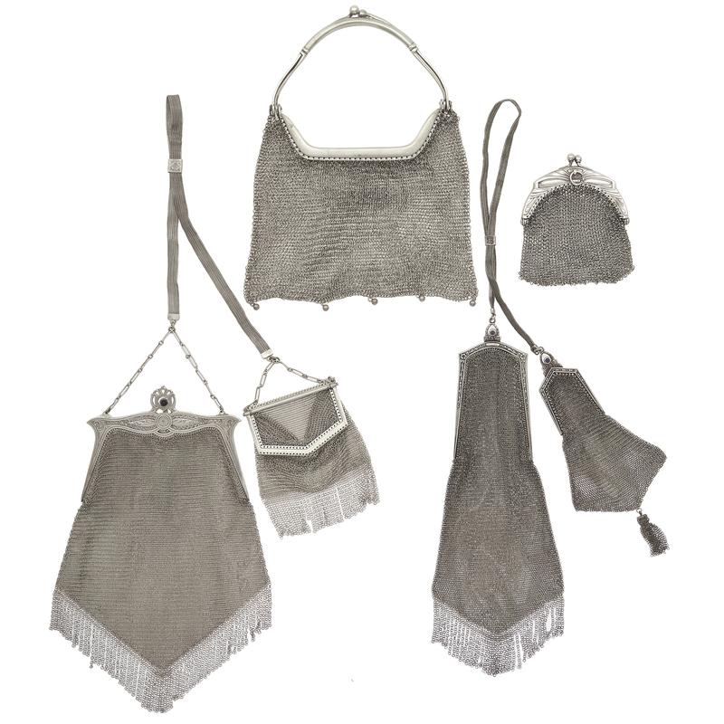 Whiting & Davis Art Deco Silver Mesh Handbags