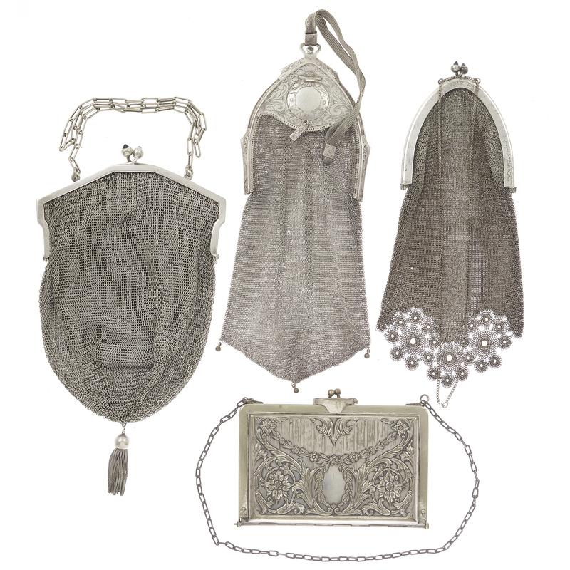 Art Deco Silvered Mesh Handbags