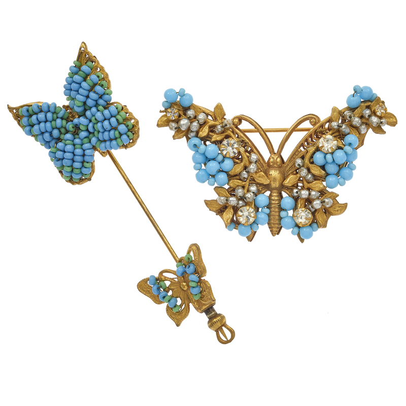 Collection of Two Mariam Haskell Butterfly Pins