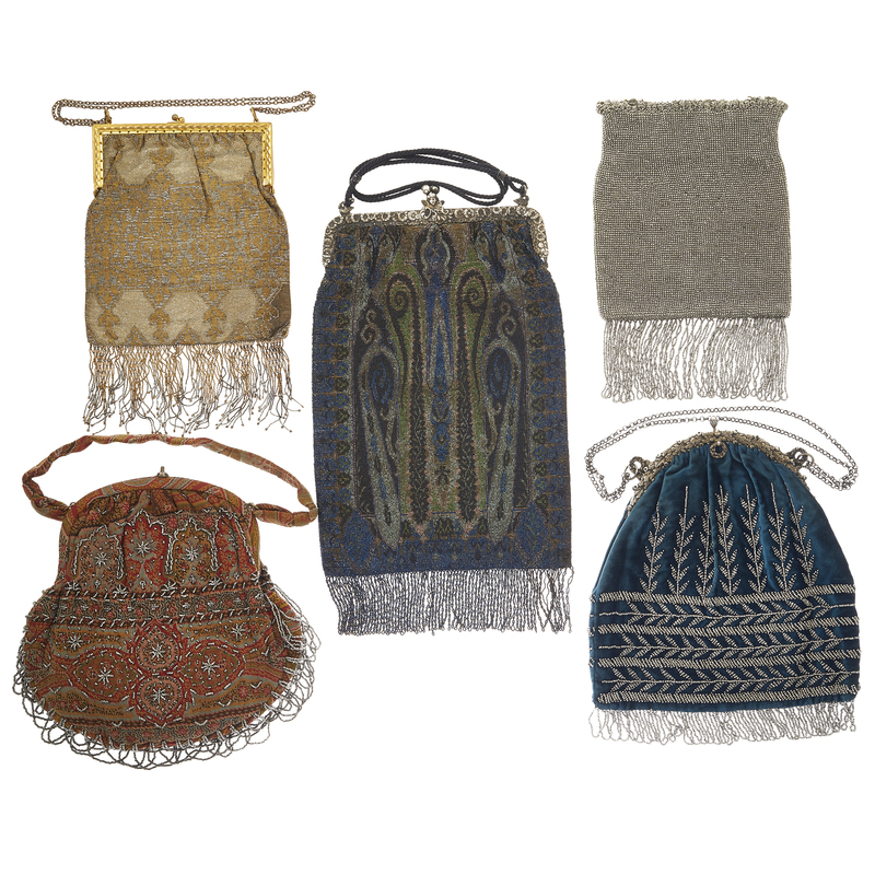 An Italiian Deco Sterling and Bead Handbag