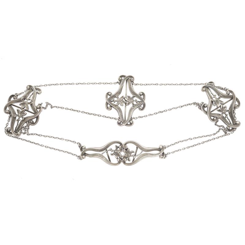 Kerr Art Nouveau Sterling Silver Belt