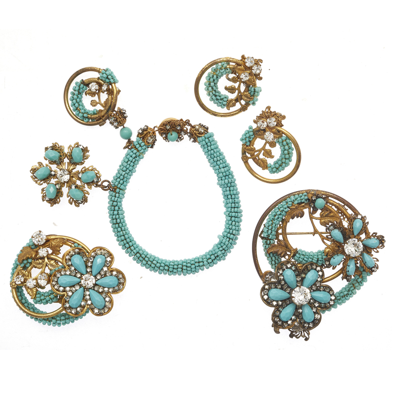 Collection of Vintage Miriam Haskell Beaded Jewelry Items