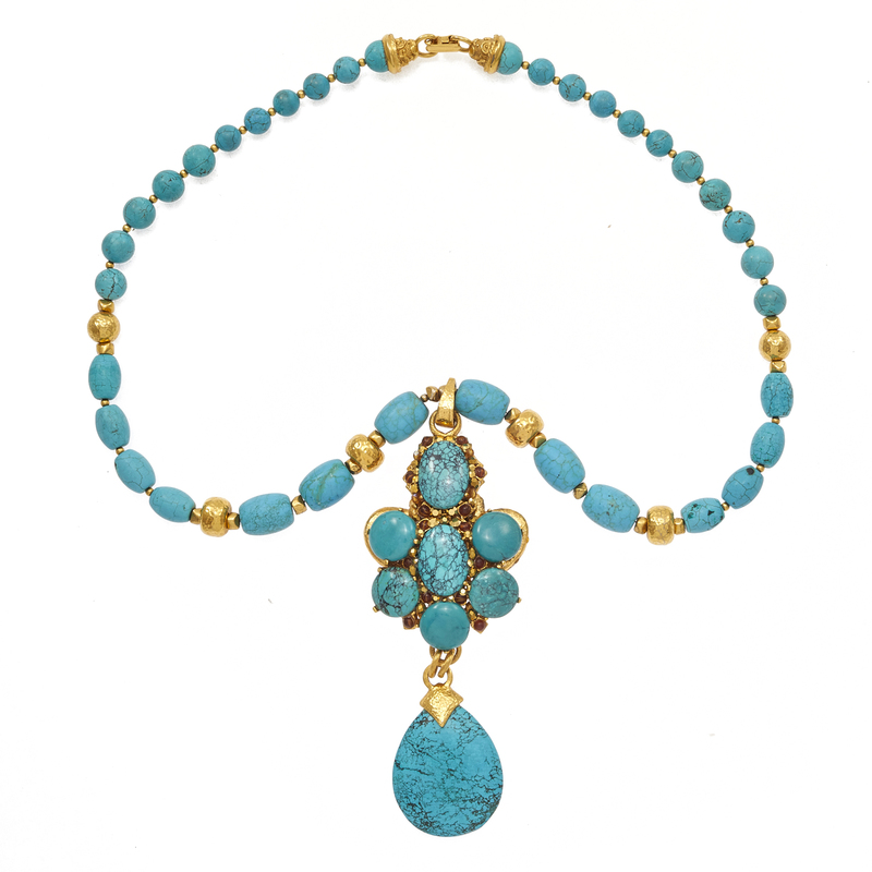 Jose & Maria Barrera Turquoise Necklace