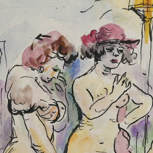 George Grosz (German/American 1893-1959) Watercolor, Pen and Ink
