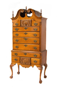 Chippendale Maple High Chest of Drawers