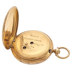 Enamel, 18k Yellow Gold Pocket Watch