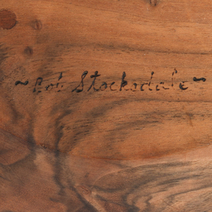 Bob Stocksdale (1913-2003): Walnut Wood Turned Salad Bowl