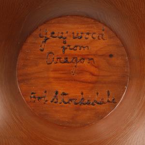 Bob Stocksdale (1913-2003): Yew Wood Turned Bowl