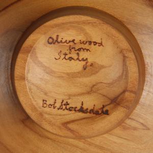Bob Stocksdale (1913-2003): Olive Wood Turned Bowl