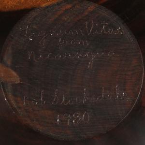 Bob Stocksdale (1913-2003): Lignum Vitae Wood Turned Bowl