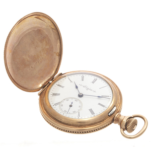 An Elgin Rose Gold-Filled Pocket Watch