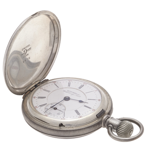 W.G. Roberts Coin Silver Hamilton Pocket Watch