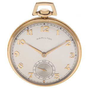 Hamilton Gold-Filled Pocket Watch