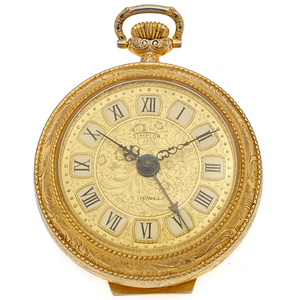 Simplon Gilt Alarm Pocket Watch