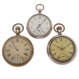 Collection of Three Astoria Dollar Pocket Watches