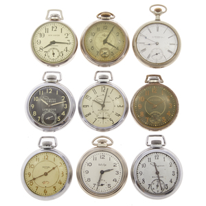 Collection of Nine Dollar Pocket Watches