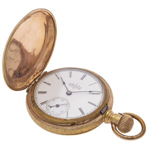 Elgin 14k Yellow Gold Pocket Watch