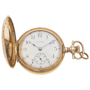 Ladies Elgin Diamond, Gold-Filled Pocket Watch