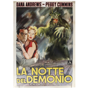 Night of the Demons 1957 Italian Movie Poster
