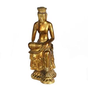 Nepalese Gilt Bronze Buddha Figure