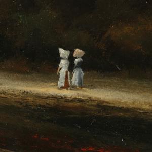 Jack H. Bradbury (American 1923-2009) Oil Painting