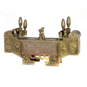 Turkish Brass Shoe Shine Bench