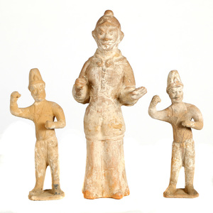 Three Terra Cotta Figures, Tang dynasty