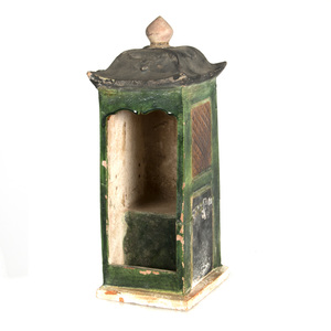 Sancai Glazed Model of a House, Ming dynasty