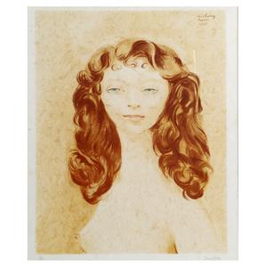 Moise Kisling (1891-1953) Portrait of a Redhead
