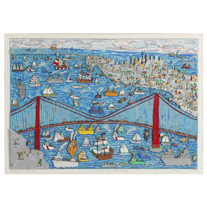 James Rizzi  (American 1950-2011) Silkscreen with Hand Cut 3-D Construction