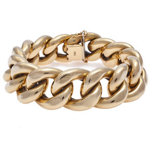 14k Yellow Gold Curb Link Bracelet