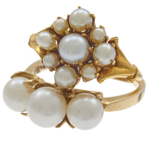 Collection of Two Victorian Cultured Pearl Rings