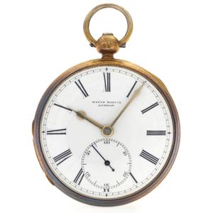 David Morice Sterling Gilt Duplex Pocket Watch
