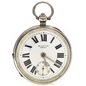 H. Stone Sterling Silver Pocket Watch