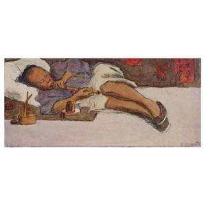 Esther Anna Hunt  (American 1875 - 1951) Opium Eater