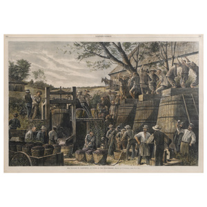 After Paul Frenzeny (French, 1840-1906) The Vintage in California, At Work at the Wine Presses