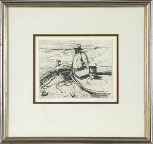 Armin Carl Hansen  (Californian 1886 - 1957) Salmon Fisher